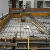 Use concrete mat for constructing the foundation.